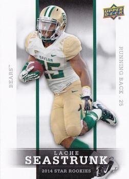 Lache Seastrunk - Baylor Bears / Tennessee Titans (RC - Rookie Card)(Football Cards) 2014 Upper Deck Star Rookies#37