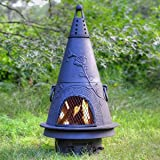 Cast Aluminum Chiminea In Garden Style With Charcoal Finish (Without Gas)