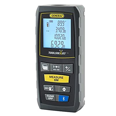 General Tools TS01 ToolSmart Bluetooth Connected Digital Laser Distance Measure