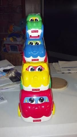 Fisher Price Nesting Action Vehicles Stacking Cars - 1