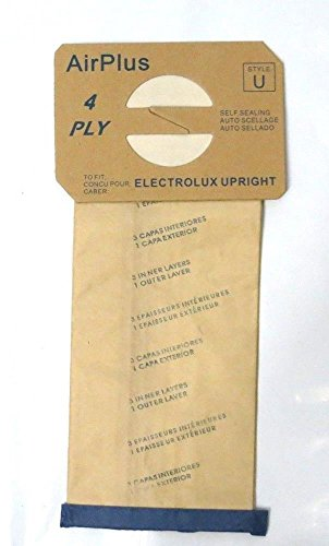 Vacuum Cleaner Bags 8 Bags for Electrolux Upright Vacuum Cleaner STYLE U (Lux Vacuum Hose compare prices)