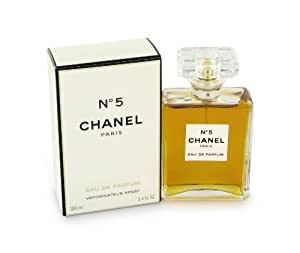 No. 5 by Chanel for Women, Eau De Parfum Spray, 3.4 Ounce