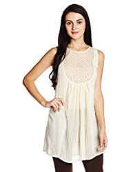 Fusion Beats Women's Tunic Top (E515KORA46M BEIGE_M)