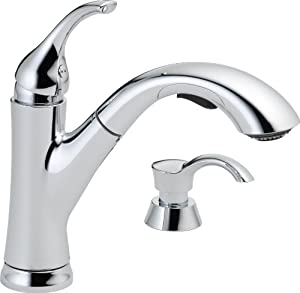 Delta faucet 16932 sd dst single handle pull out kitchen for Kitchen faucet recommendations