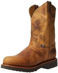 Justin Original Work Boots Men\'s J-max Pull-On Work Boot,Rugged Tan Gaucho,8.5 D US