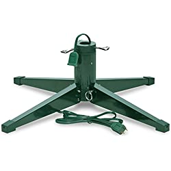 Heavy-duty Rotating Revolving Tree Stand, Seasonal Winter Christmas Tree Stands for Artificial Trees, Metal