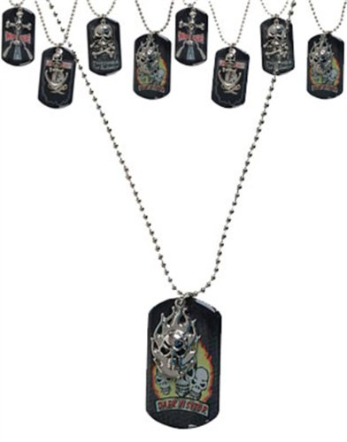 Flaming Skull Vampire Slayer Gothic Dog Tags Dogtags