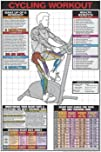 AWW CS04-L Stationary Cycling Workout Laminated Fitness Poster