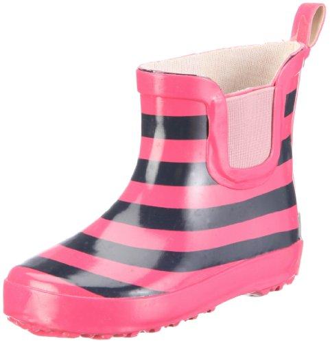 Playshoes Unisex - Children Gummistiefel Ringel nieder 180359 Boots Pink EU 18