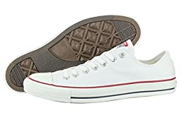 Womens Converse All Star Low Top Chuck Taylor Chucks Trainers - White Mono - 7