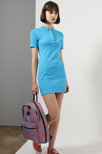 L!ve Short Sleeve Pique Polo Dress