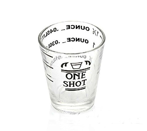 XH® Glass Measuring Cup for Espresso Cocktail 1.5oz (Glass Espresso Measuring Cup compare prices)