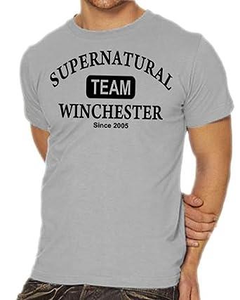 Touchlines Herren T-Shirt Supernatural - Team Winchester, ash, XXXL, B1791-Ash-XXXL