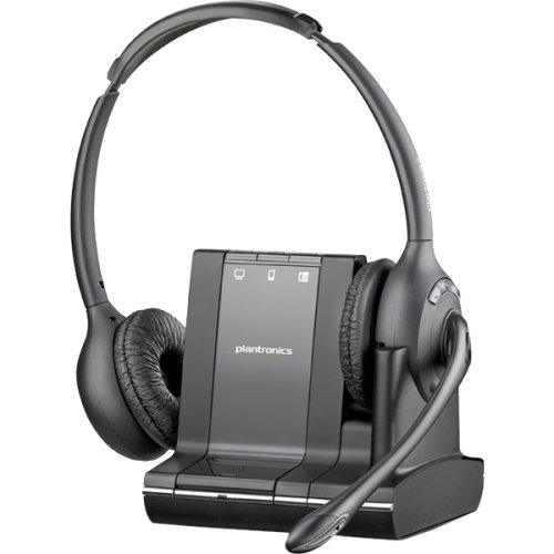 "Plantronics W720. M Over. The. Head, Binaural (Microsoft) . Stereo . Wireless . Dect . 350 Ft . Over. The. Head . Binaural . Supra. Aural . Noise Cancelling Microphone ""Product Type: Audio Electronics/Headsets/Earsets"""