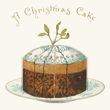 A Christmas Cake Pack of 10 Christmas Cards (Square)||RF10F