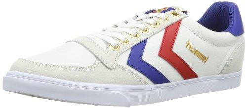 hummel HUMMEL SLIMMER STADIL LOW, Sneaker, Uomo, Bianco (WHITE/BLUE/RED/GUM), 41