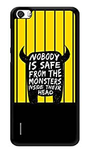 """Humor Gang Funny Monster Quote Printed Designer Mobile Back Cover For """"Huawei Honor 6"""" (3D, Glossy, Premium Quality Snap On Case)"""