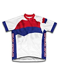 Republika Srpska Flag Short Sleeve Cycling Jersey for Women