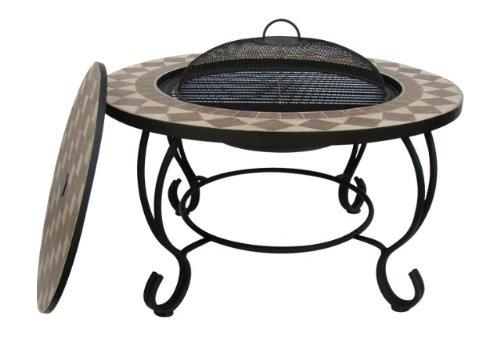 Table basse ronde acier pas cher for Table brasero exterieur