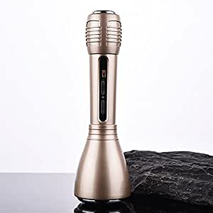 Link Plus Portable Sing karaoke OK 3.5mm Jack Wired Wireless Bluetooth Microphone For Iphone IOS,Android Smartphone,PC And Laptop Voice