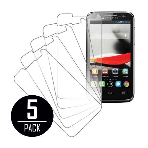 MPERO Sammlung 5 Pack von Klar Displayschutzfolie Films für Alcatel ONETOUCH Evolve 5020T