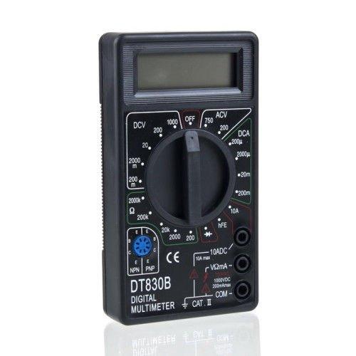 New Dt830B Digital Voltmeter Ammeter Ohm Multimeter Test Leads Line Tester