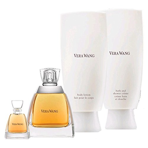 Vera Wang 4 Pc Set for Women with 3.4 Oz Eau De Parfum Spray/ Shower Gel/ Body Lotion (Vera Wang Eau De Parfum Spray compare prices)