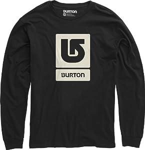 Burton Herren Langarmshirt Logo Vertical Longsleeve, True Black, 44/46 (S), 11211100002
