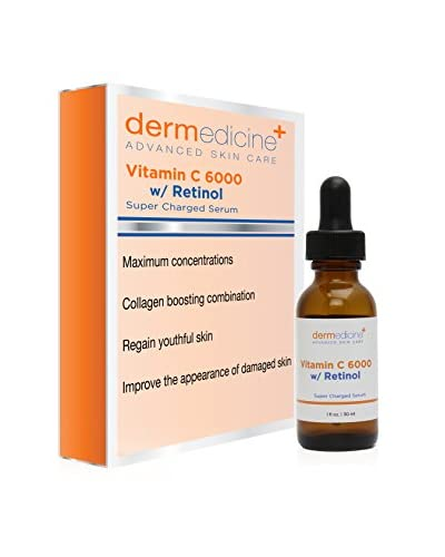 Dermedicine Vitamin C 6000 Serum with Retinol, 1 fl. oz.