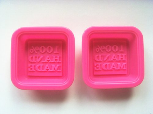 1 X 100% Hand made small Square Craft Art Silicone Soap mold Craft Molds DIY Handmade soap molds (Silicone Mold 100 Hand Made compare prices)