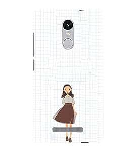 EPICCASE Sweet little School girl Mobile Back Case Cover For Xiaomi Redmi Note 3 (Designer Case)
