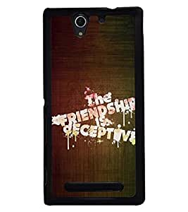 PRINTSWAG QUOTE Designer Back Cover Case for SONY XPERIA C3