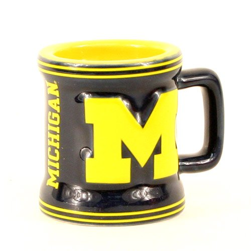 Michigan Wolverines Sculpted Mini Mug Shot Glass