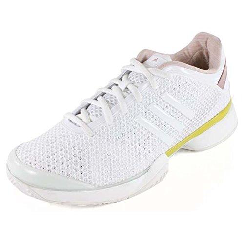 Adidas aSMC Barricade Womens Tennis Shoe 8 White-Yellow