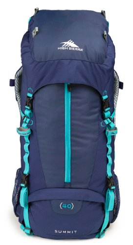 High Sierra Women'S Summit 40 Internal Frame Pack, True Navy/True Navy/Tropic Teal front-857245