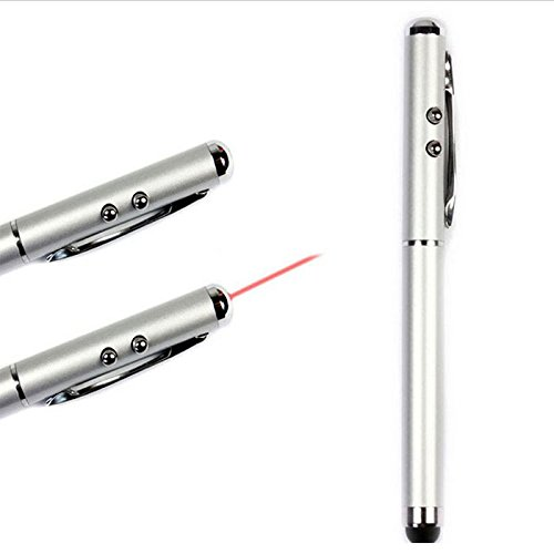 Bluesky Portable 3-In-1 Stylus Laser Pointer Led Light Pen For The Ipad, Iphone ,Ipod Touch,Samsung,And Other Intelligent Mobile Phone (White)