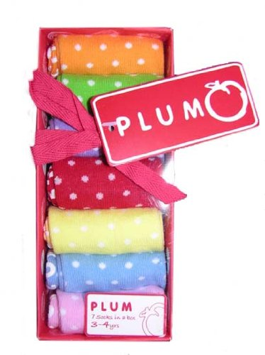 Plum Collections Seven Pairs of Spotty Socks in Gift Box Size 0-6 months