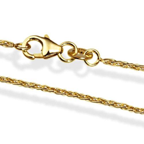 Goldmaid Unisex-Halskette 585 Gold Zopfkette 45 cm Ke_449GG585