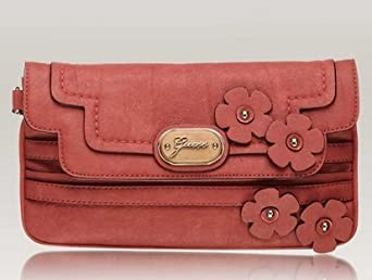 Best! Guess Delana Flap Clutch Coral Vg346118 Clothing