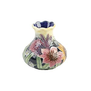 Old Tupton Ware - Summer Bouquet Design, 3 inch squat vase