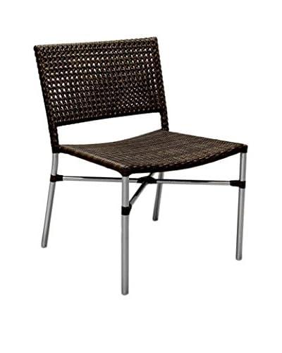 Jeffan Stackable Outdoor Dining Chair, Dark Brown