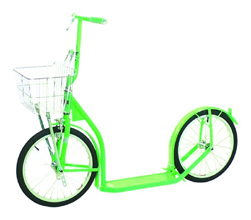 "Amish Made Kids Deluxe Kick Scooter, 16"" Wheels (Neon Green)"