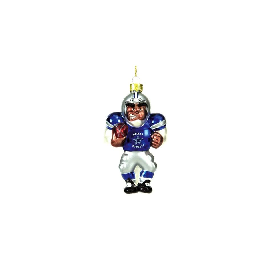 Dallas Cowboys Nfl Glass Player Ornament (5 African American