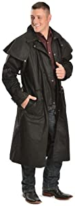 Outback Trading Co Men's Co. Long Oilskin Duster Black X-Large