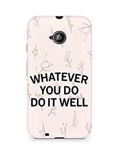 AMEZ whatever you do do it welly Back Cover For Motorola Moto E2