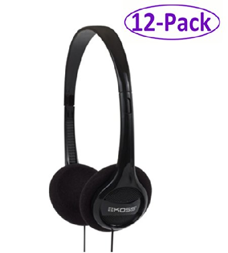 Koss (Kph7) 12-Pack Black Portable Stereo Headphones