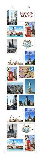 Fotovorhang C6 11,4 x 16,2 für 20 Fotos Hochformat und Querformat Postkarten Format Fotowand Fotogalerie Fototaschen Fotohalter Taschenvorhang Fotos