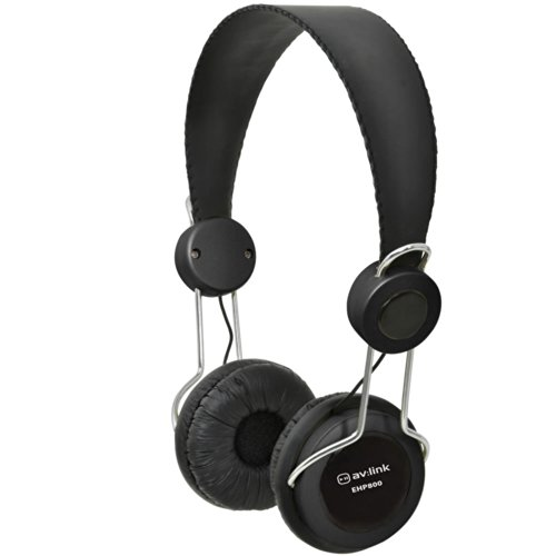 Kenable Durable Classroom Headphones With In-Line Microphone 3.5Mm Jack Black