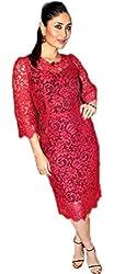 KHAZANAKART RED BRASSO NET DESIGNER BOLLYWOOD REPICA DRESS MATERIALS FOR WOMEN