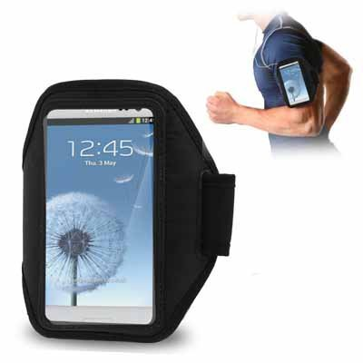 Sport Armband Gym Band Case Pouch Exercise Case for Samsung Galaxy i9300-Black